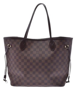 Louis Vuitton Ebene Neverfull Mm Tote in Brown / Damier Canvas