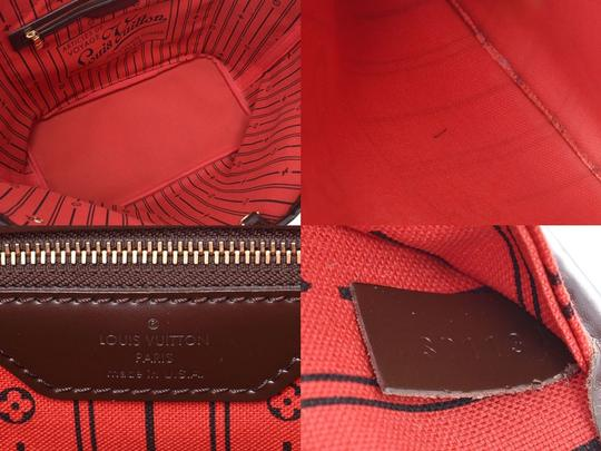 Louis Vuitton Ebene Neverfull Mm Tote in Brown / Damier Canvas Image 8