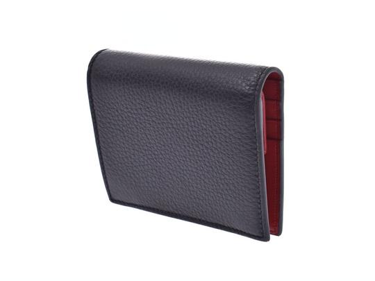 Prada Prada Compact Two Fold Wallet Black / Red 1MV204 Ladies' Men's Calf Good Condition PRADA Box Gala Image 1