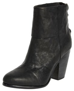 Rag & Bone black waxy Boots