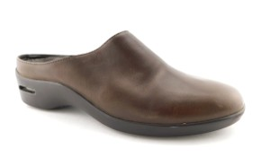 Cole Haan Round Toe Flat Wedge Chocolate Brown Mules