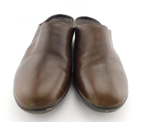 Cole Haan Round Toe Flat Wedge Chocolate Brown Mules Image 1