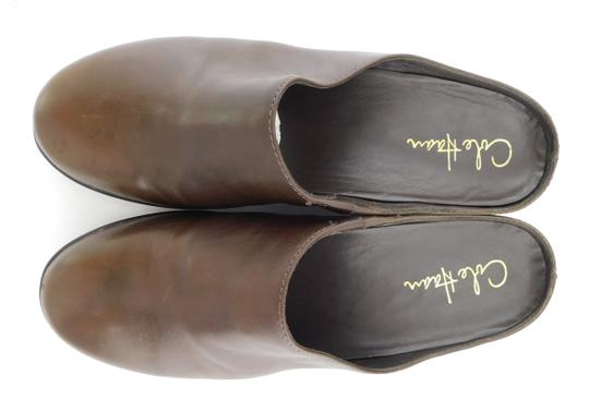 Cole Haan Round Toe Flat Wedge Chocolate Brown Mules Image 2