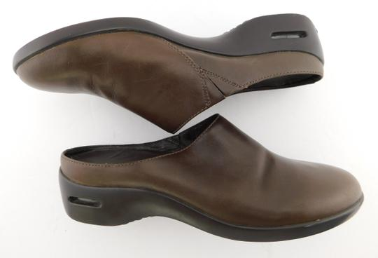 Cole Haan Round Toe Flat Wedge Chocolate Brown Mules Image 3