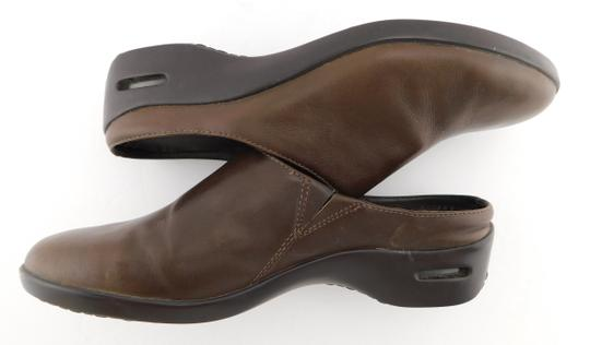 Cole Haan Round Toe Flat Wedge Chocolate Brown Mules Image 4