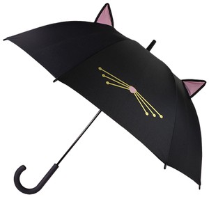 Kate Spade NWT Kate Spade Black Meow Cat Umbrella With Ears