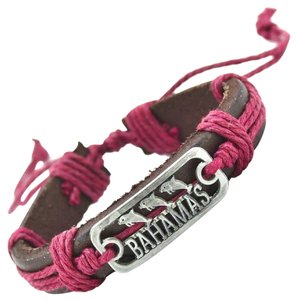 Bahamas Leather Dolphin Bracelet