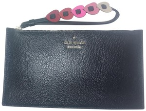 Kate Spade Hearts Yours Truly Ariah Black Wristlet Wallet Leather PWRU6140