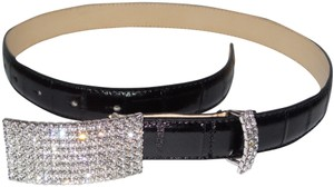 Alessandra Rich Alessandra Rich Leather & Crystal Belt Size S