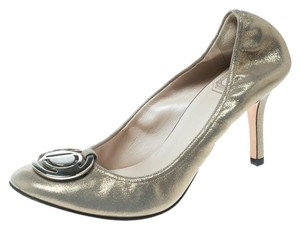 Dior Nubuck Glitter Leather Metallic Pumps