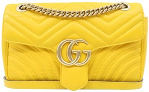 Gucci Marmont Small Calfskin Shoulder Bag
