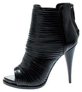 Givenchy Leather Peep Toe Black Boots