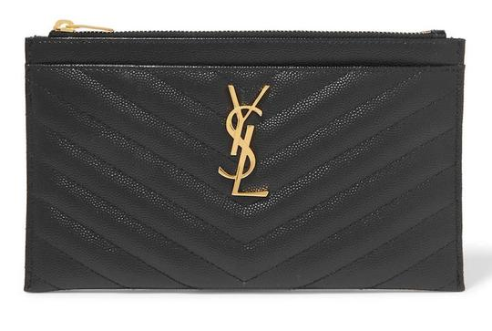 Preload https://img-static.tradesy.com/item/26012812/saint-laurent-new-ysl-quilted-wallet-pouch-black-gold-leather-clutch-0-0-540-540.jpg