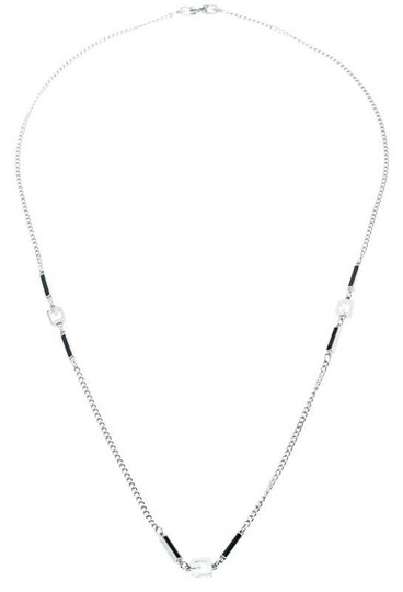 Preload https://img-static.tradesy.com/item/26012846/givenchy-black-silver-plated-monogram-link-station-necklace-0-4-540-540.jpg