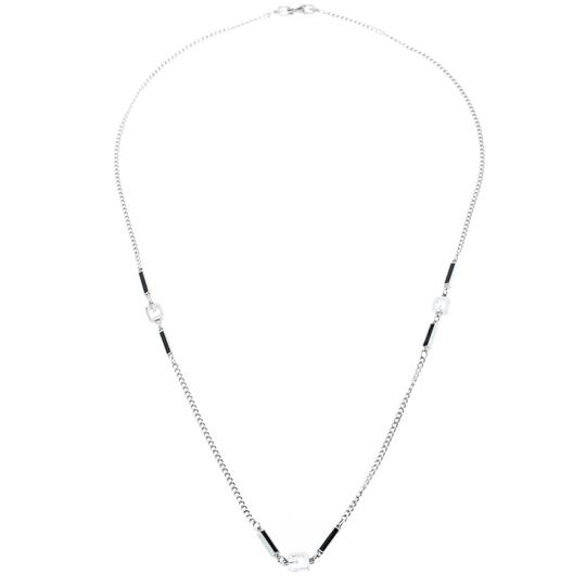 Givenchy Givenchy Silver Plated Monogram Link Station Necklace Image 1