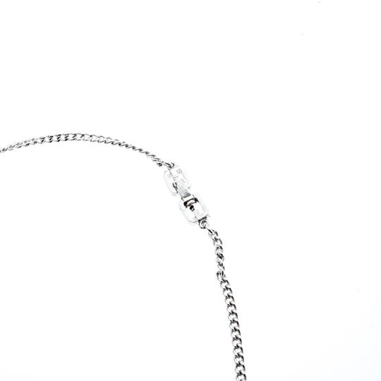 Givenchy Givenchy Silver Plated Monogram Link Station Necklace Image 2