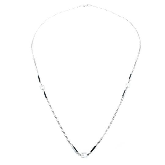 Givenchy Givenchy Silver Plated Monogram Link Station Necklace Image 3