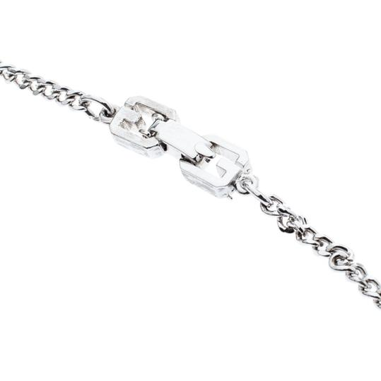 Givenchy Givenchy Silver Plated Monogram Link Station Necklace Image 5