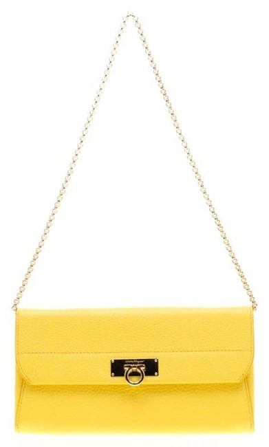 Item - Yellow on Chain Leather Wallet