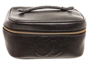Chanel Chanel Black Caviar Leather Timeless CC Vanity Case