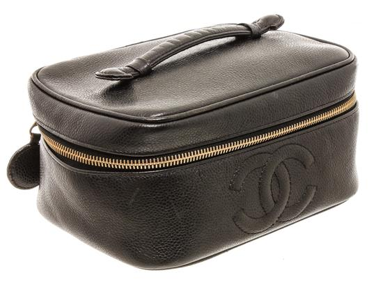 Chanel Chanel Black Caviar Leather Timeless CC Vanity Case Image 1