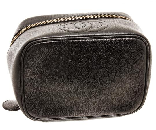 Chanel Chanel Black Caviar Leather Timeless CC Vanity Case Image 3