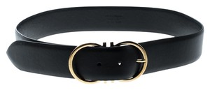 Salvatore Ferragamo Salvatore Ferragamo Black Leather Ceylon Belt Size 85cm