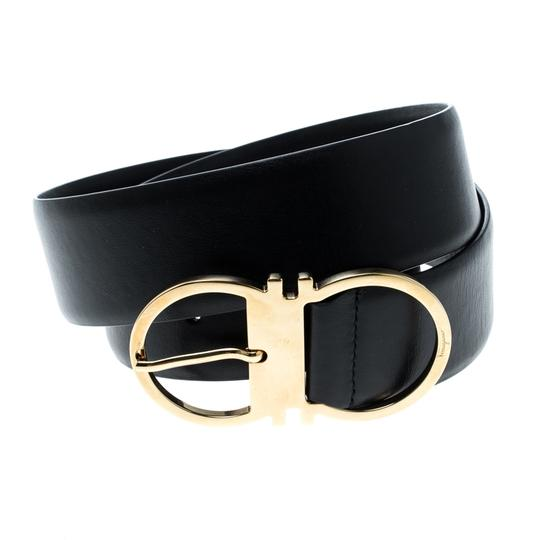 Salvatore Ferragamo Salvatore Ferragamo Black Leather Ceylon Belt Size 85cm Image 1