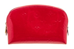 Louis Vuitton Louis Vuitton Red Vernis Leather Cosmetic Pouch Case