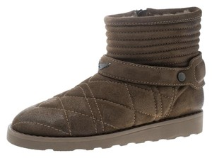 Zadig & Voltaire Suede Quilted Ankle Green Boots