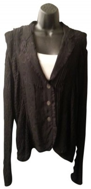 Preload https://img-static.tradesy.com/item/26013/chico-s-black-textured-lace-ruffle-trimmed-blouse-button-down-top-size-20-plus-1x-0-0-650-650.jpg