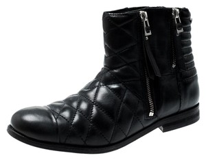 Zadig & Voltaire Quilted Leather Ankle Black Boots