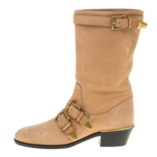 Chloé Leather Detail Beige Boots Image 1
