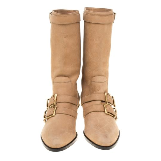 Chloé Leather Detail Beige Boots Image 2