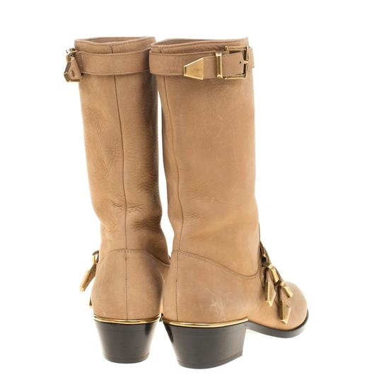 Chloé Leather Detail Beige Boots Image 3