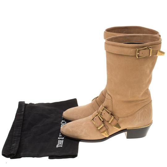 Chloé Leather Detail Beige Boots Image 6