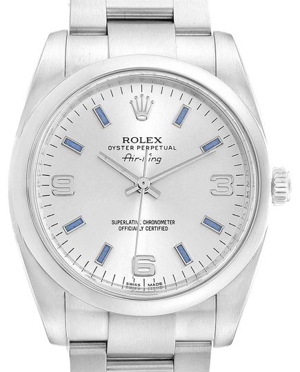 Preload https://img-static.tradesy.com/item/26013081/rolex-silver-air-king-dial-blue-index-hour-markers-steel-114200-watch-0-2-540-540.jpg