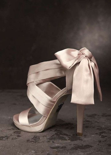 Vera Wang White Label Blush Bow Wedding Shoes