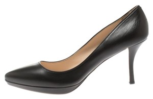 Prada Leather Pointed Toe Platform Black Pumps
