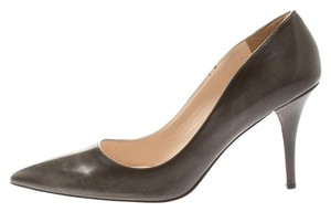 Prada Leather Pointed Toe Brown Pumps