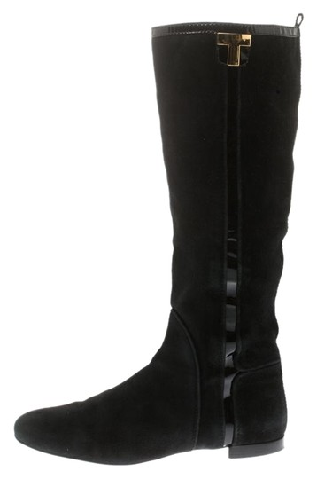 Preload https://img-static.tradesy.com/item/26013307/tory-burch-black-suede-and-patent-leather-trim-knee-length-bootsbooties-size-eu-38-approx-us-8-regul-0-2-540-540.jpg