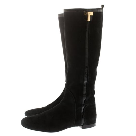Tory Burch Patent Leather Suede Black Boots Image 3
