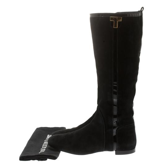 Tory Burch Patent Leather Suede Black Boots Image 6