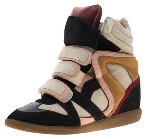 Isabel Marant Leather Wedge Multicolor Athletic