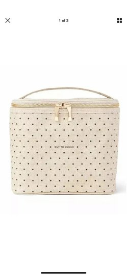 Preload https://img-static.tradesy.com/item/26013661/kate-spade-brown-bagging-it-has-never-looked-so-gourmet-this-lunch-tote-s-coated-linen-cover-is-comp-0-0-540-540.jpg