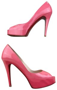 Christian Louboutin Patent Leather Hyper Prive Pink Pumps
