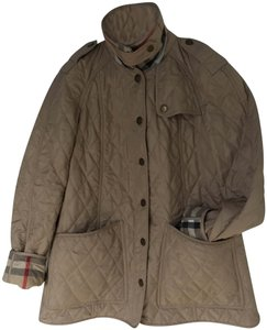 Burberry Quilted Military Khaki tan Jacket