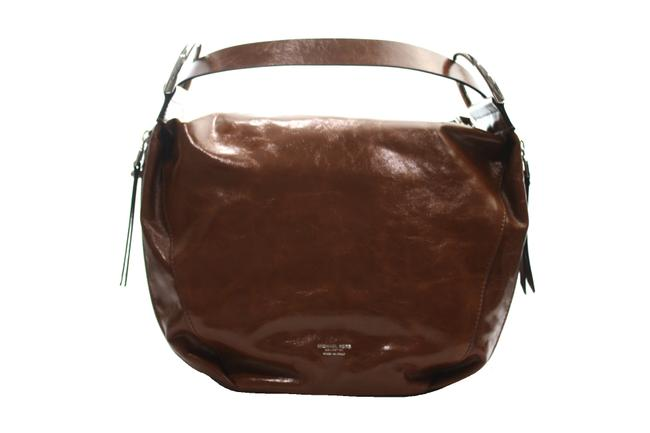 Michael Kors Collection Chrissie 'chrissie' Crescent Genuine Tan Leather Hobo Bag Michael Kors Collection Chrissie 'chrissie' Crescent Genuine Tan Leather Hobo Bag Image 1