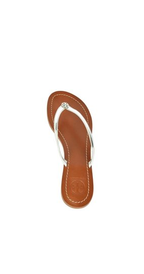 Tory Burch Silver Sandals Image 1
