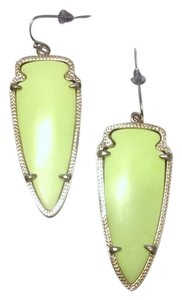 Kendra Scott Skylar Earrings in Neon Yellow with Gold Frames